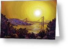 San Francisco Bay In Golden Glow Greeting Card
