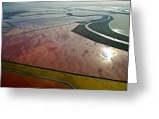 San Francisco Bay Salt Flats 5 Greeting Card