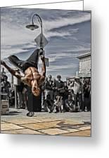 San Francisco Breakdancer Greeting Card