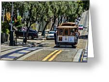 San Francisco, Cable Cars -1 Greeting Card