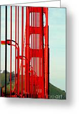 San Francisco Golden Gate Bridge Symphony In California Greeting Card