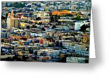 San Francisco California Scenic  Rooftop Landscape Greeting Card