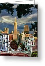 San Francisco Cliff Greeting Card