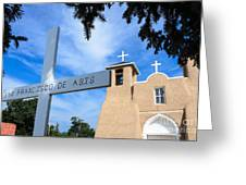 San Francisco De Asis Church Greeting Card