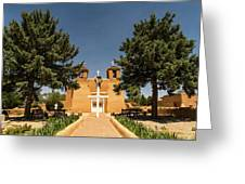 San Francisco De Assisi Mission Church Taos New Mexico 2 Greeting Card