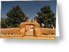 San Francisco De Assisi Mission Church Taos New Mexico Greeting Card