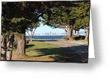 San Francisco Framed By Trees Greeting Card
