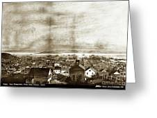 San Francisco, From Clay Street, 1855 Greeting Card