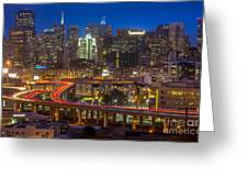 San Francisco From Potrero Hill Greeting Card by Inge Johnsson