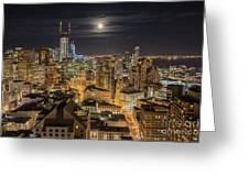 San Francisco Moon Greeting Card