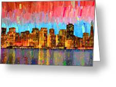 San Francisco Skyline 11 - Pa Greeting Card