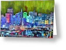 San Francisco Skyline 115 - Pa Greeting Card