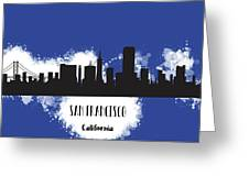 San Francisco Skyline Silhouette Greeting Card
