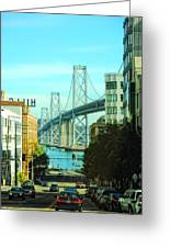 San Francisco Street Greeting Card