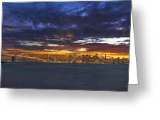 San Francisco Sunset Greeting Card