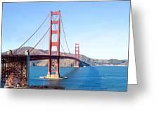 San Francisco's Golden Gate Bridge Greeting Card