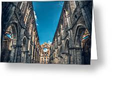 San Galgano Church Ruins In Siena - Tuscany - Italy Greeting Card