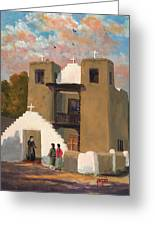 San Geronimo De Taos Spanish Mission Greeting Card