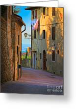 San Gimignano Alley Greeting Card