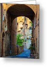 San Gimignano Archway Greeting Card by Inge Johnsson