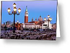 San Giorgio Maggiore From Piazza San Marco - Venice Greeting Card