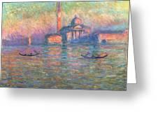 San Giorgio Maggiore Venice Greeting Card by Claude Monet