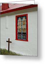 San Iglesia Church Window Greeting Card