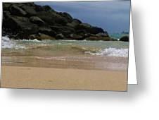 San Juan Beach 7 Greeting Card by Anna Villarreal Garbis