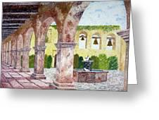 San Juan Capistrano Courtyard Greeting Card