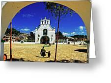 San Juan Chamula Church In Chiapas, Mexico Greeting Card
