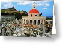 San Juan Graveyard Greeting Card
