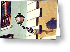 San Juan Street Lamp Greeting Card