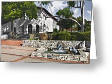 San Luis Mission Fountain Greeting Card