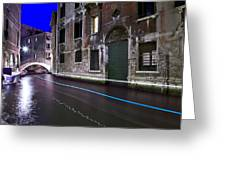 San Marco By Nightt Greeting Card
