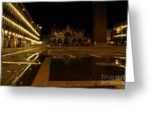 San Marco In Venice At Night Greeting Card