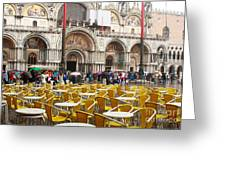 San Marco On A Rainy Day Greeting Card
