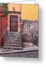 San Miguel Steps And Door Greeting Card