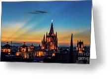San Miguel Sunset Greeting Card