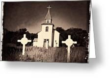 San Patricio Church IIi Sepia Greeting Card