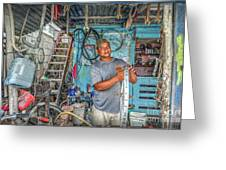 San Pedro Bike Repair Greeting Card