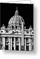 San Pietro Greeting Card by John Rizzuto