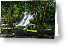 San Saba Waterfall Greeting Card