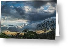 San Salvador Sunset Greeting Card