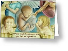 Sanctity Of Life Greeting Card