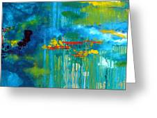 Sanctuary Abstract Painting Greeting Card