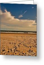 Sand And Clouds Greeting Card
