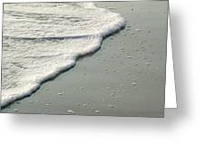 Sand And Foam Greeting Card