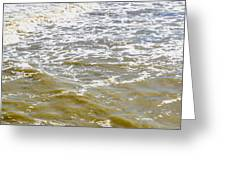 Sand Beach And Wave 4 Greeting Card