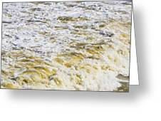 Sand Beach And Wave 5 Greeting Card