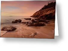 Sand Beach At Sunrise Greeting Card